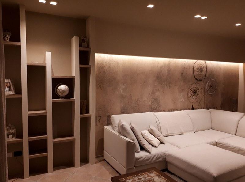 Pareti attrezzate in cartongesso idee per un soggiorno di design tnt post - Creare una parete in cartongesso ...